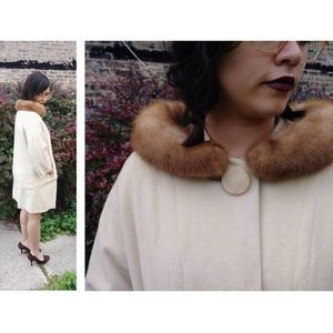 Vintage Collared Hollywood Cream Coat